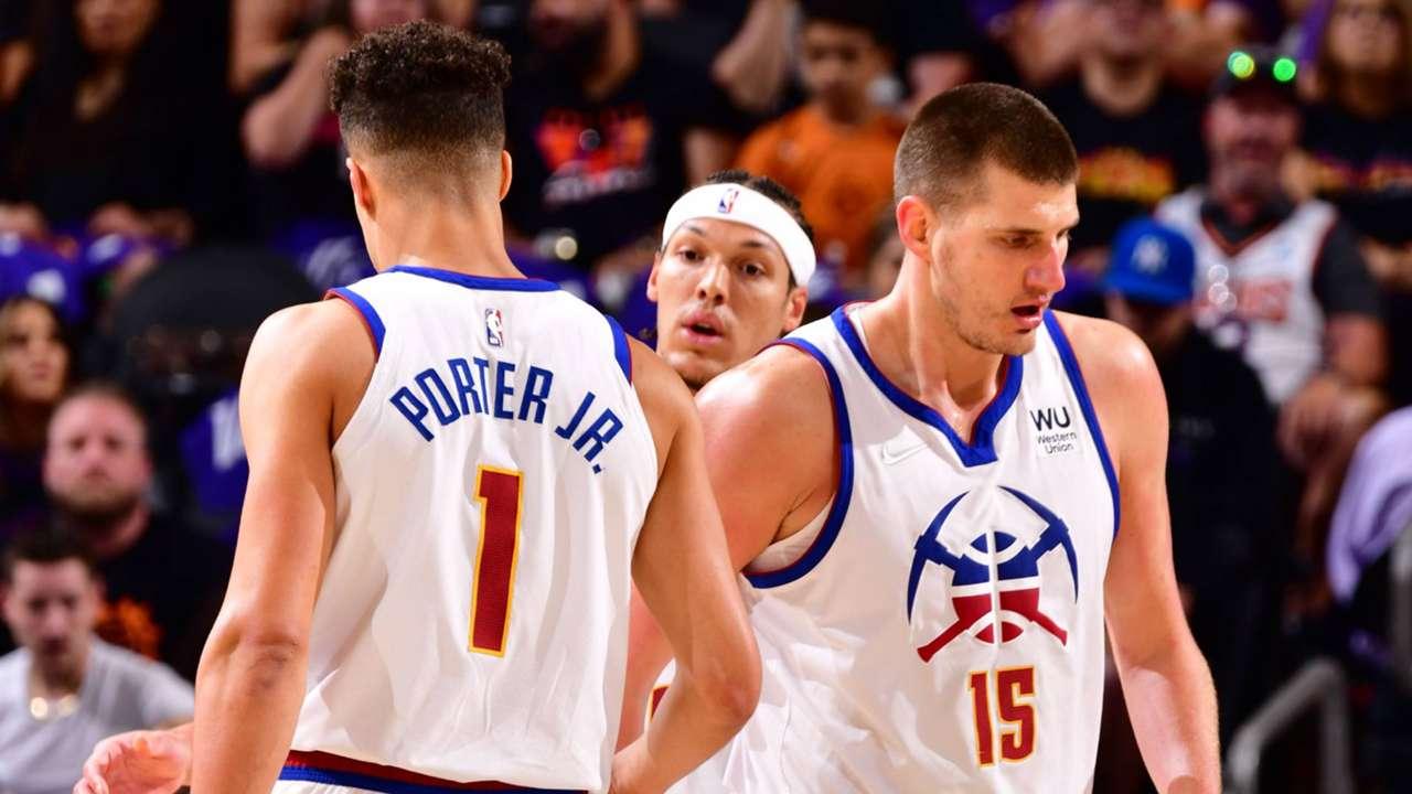 Nikola Jokic, Michael Porter Jr., Aaron Gordon, Denver Nuggets