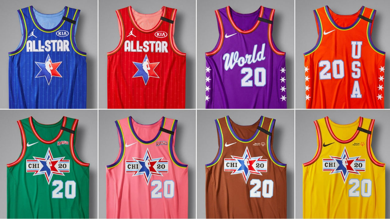 Drawing Of Nba Stars: NBA All-Star Game 2020: All-Star Jerseys Revealed, Drawing