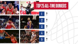 Who are the top 25 dunkers of all-time?