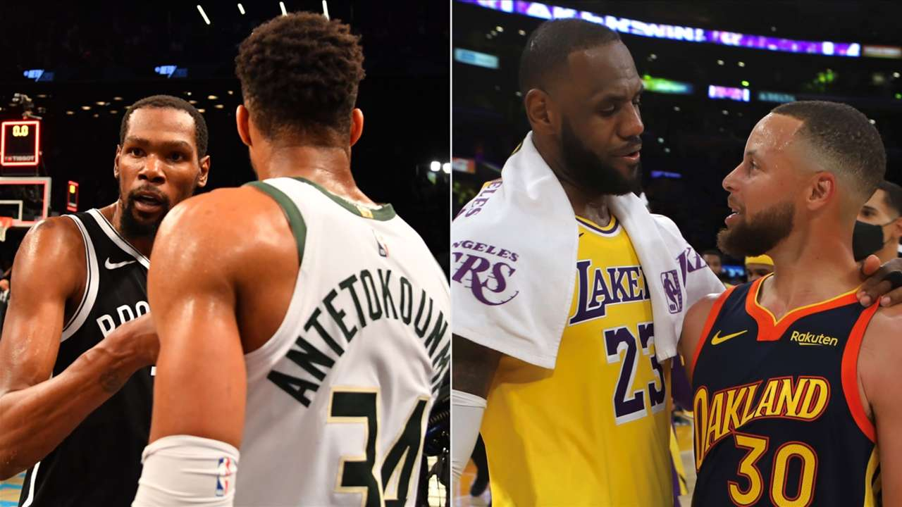 Kevin Durant and Giannis Antetokounmpo, LeBron James and Stephen Curry