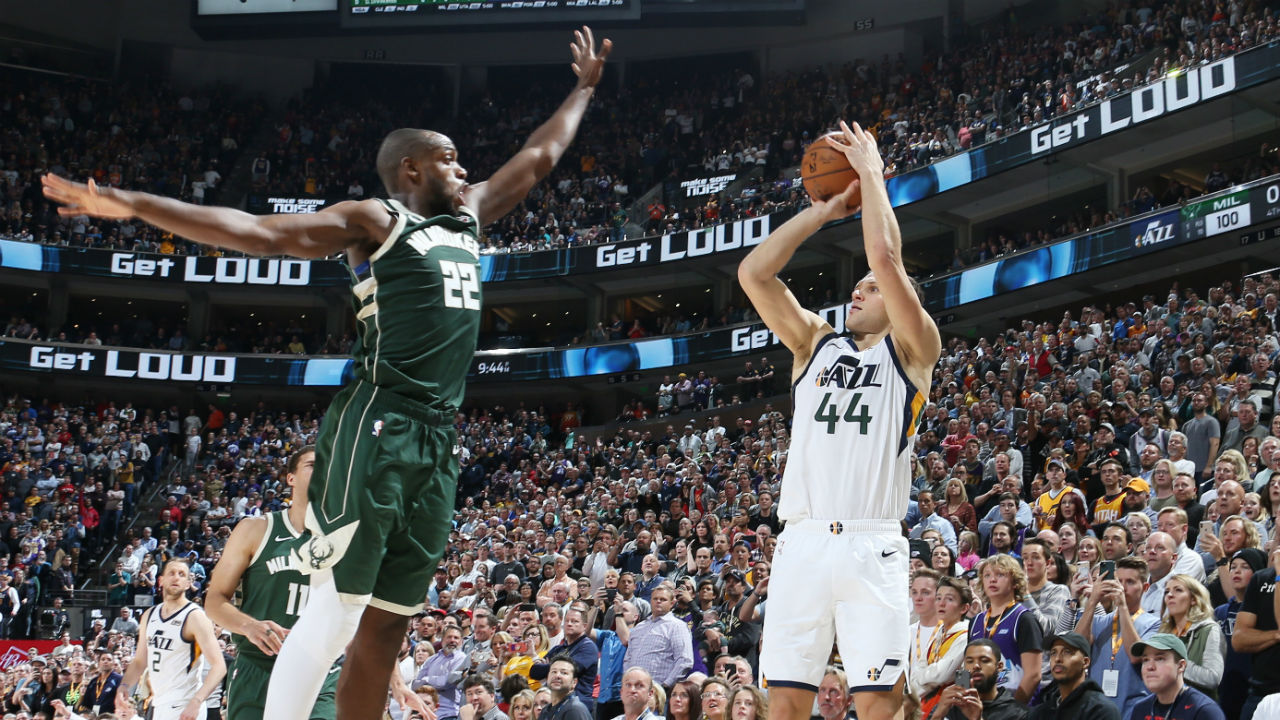 Utah Jazz hold off Giannis Antetokounmpo's monster second half with Bojan Bogdanovic game winner
