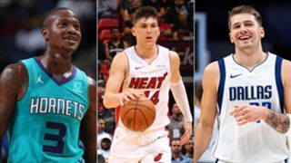Terry Rozier, Tyler Herro, and Luka Doncic