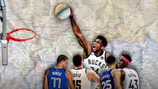 Giannis Antetokounmpo leads the charge of international stars around the NBA.