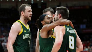 Joe Ingles, Patty Mills and Matthew Dellavedova