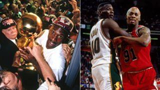 Michael Jordan, Shawn Kemp, Dennis Rodman