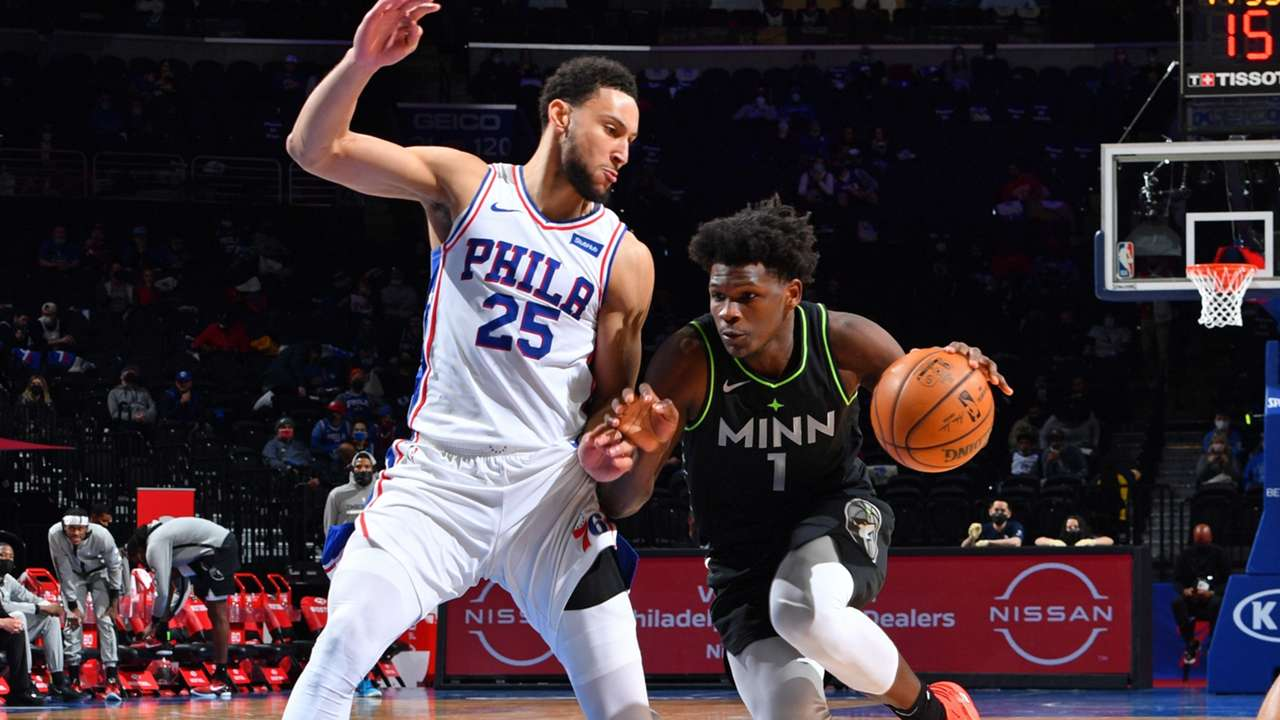 76ers star Ben Simmons defends Timberwolves guard Anthony Edwards