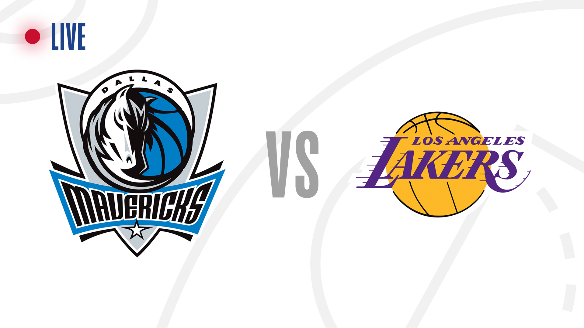 Dallas Mavericks vs. the Los Angeles Lakers