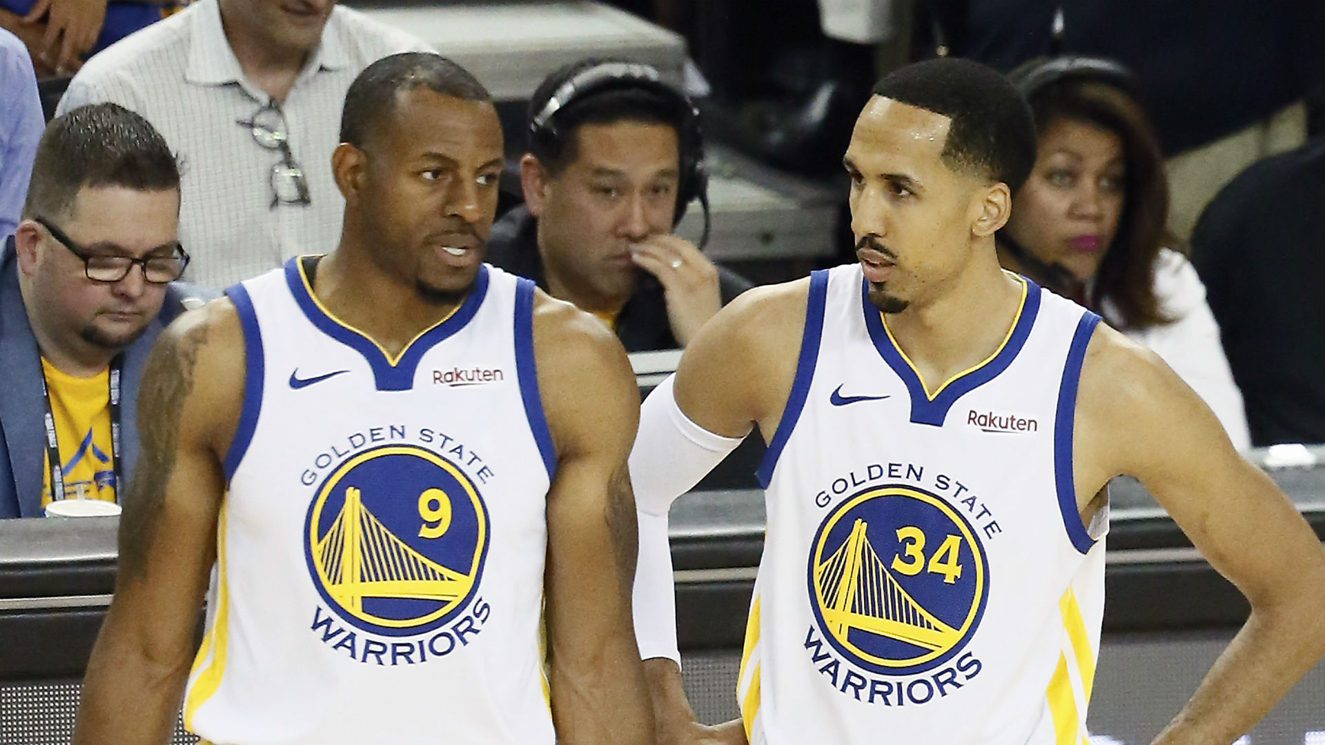 Andre Iguodala and Shaun Livingston