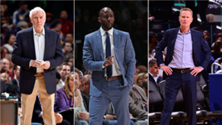 Gregg Popovich, Lloyd Pierce and Steve Kerr