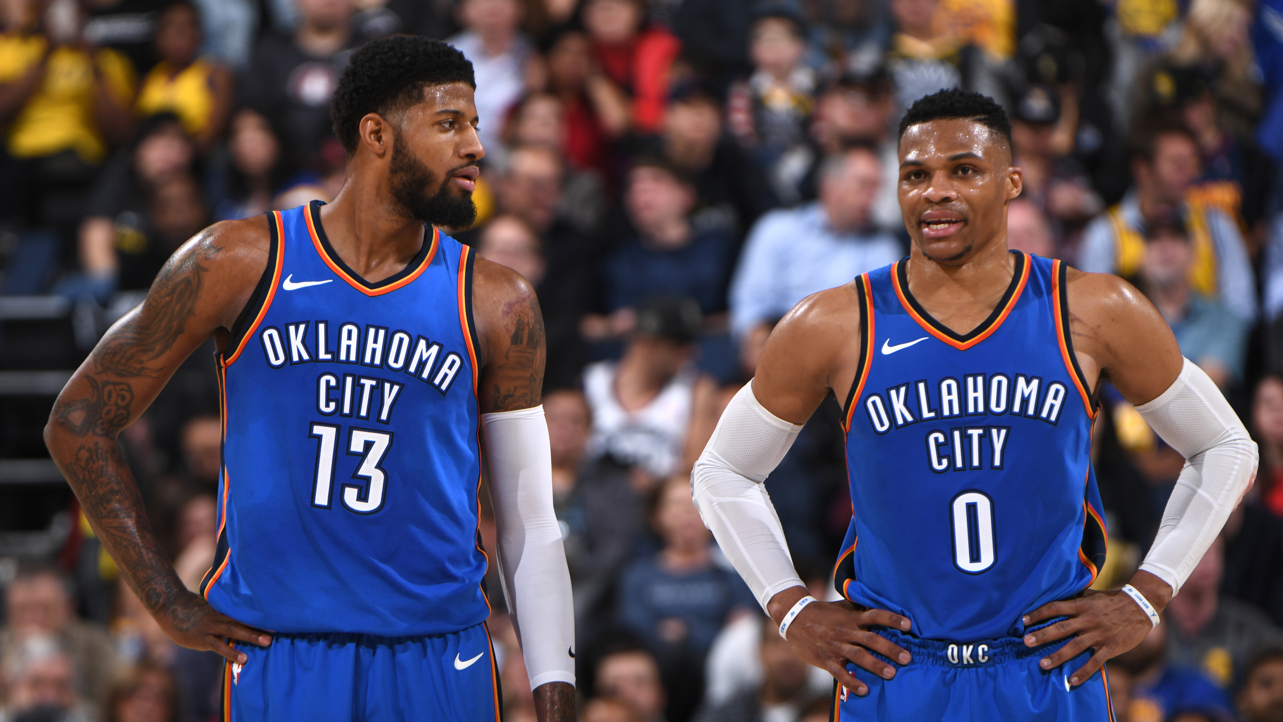 Oklahoma City Thunder Paul George Russell Westbrook NBA
