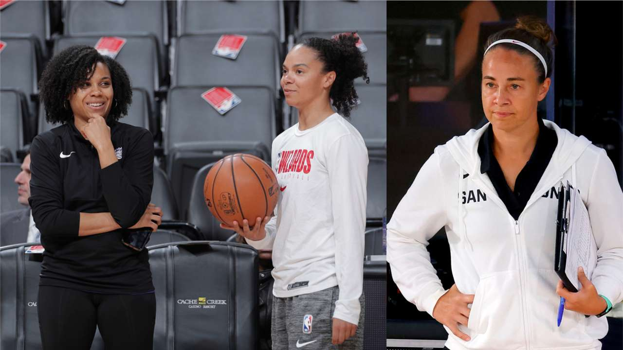 Lindsey Harding, Kristi Toliver, and Becky Hammon
