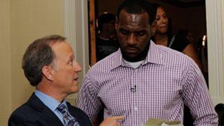 Jim Gray and LeBron James