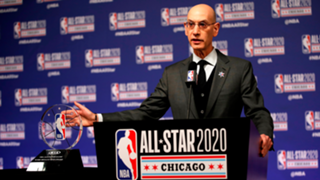 Adam SIlver at theAll-Star Weekend Press Conference