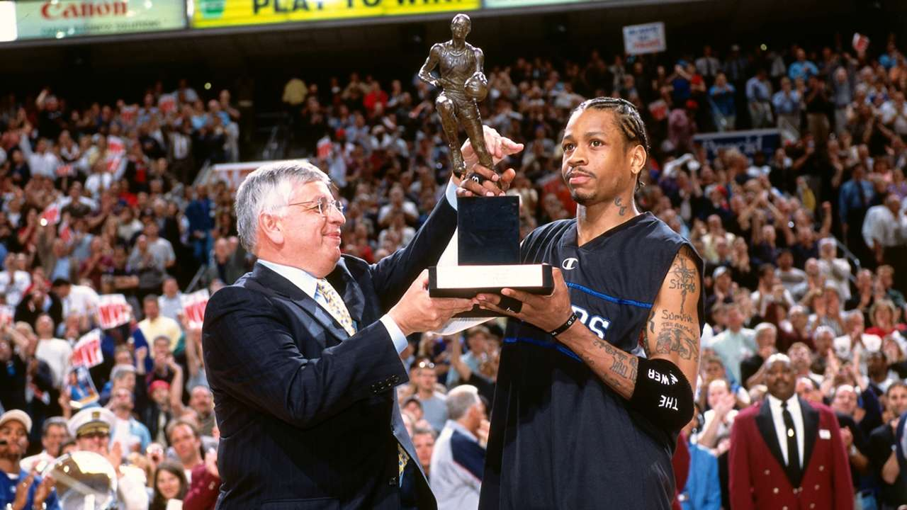 David Stern and Allen Iverson