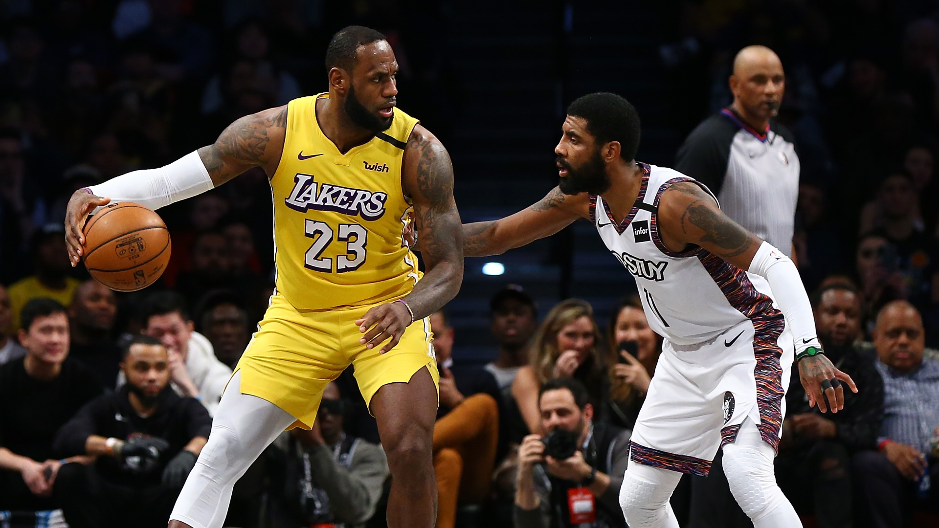 LeBron James records triple-double to power Los Angeles Lakers past Brooklyn Nets on the road