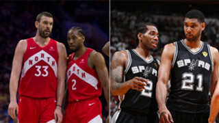 Marc Gasol is playing a similar role on the 2019 Raptors that Tim Duncan did on the 2014 Spurs.