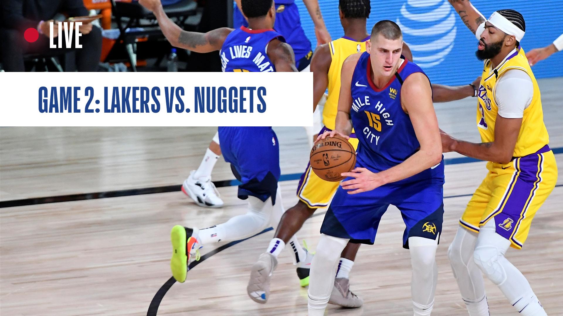 Los Angeles Lakers vs. Denver Nuggets Game 2: Live score ...