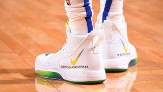 Ben Simmons bush fire tribute sneakers
