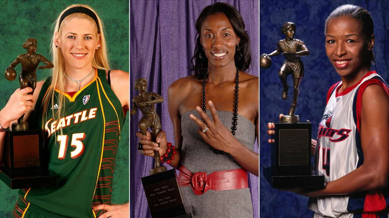 Lauren Jackson, Lisa Leslie and Cynthia Cooper are the WNBA players to win most MVPs in league history