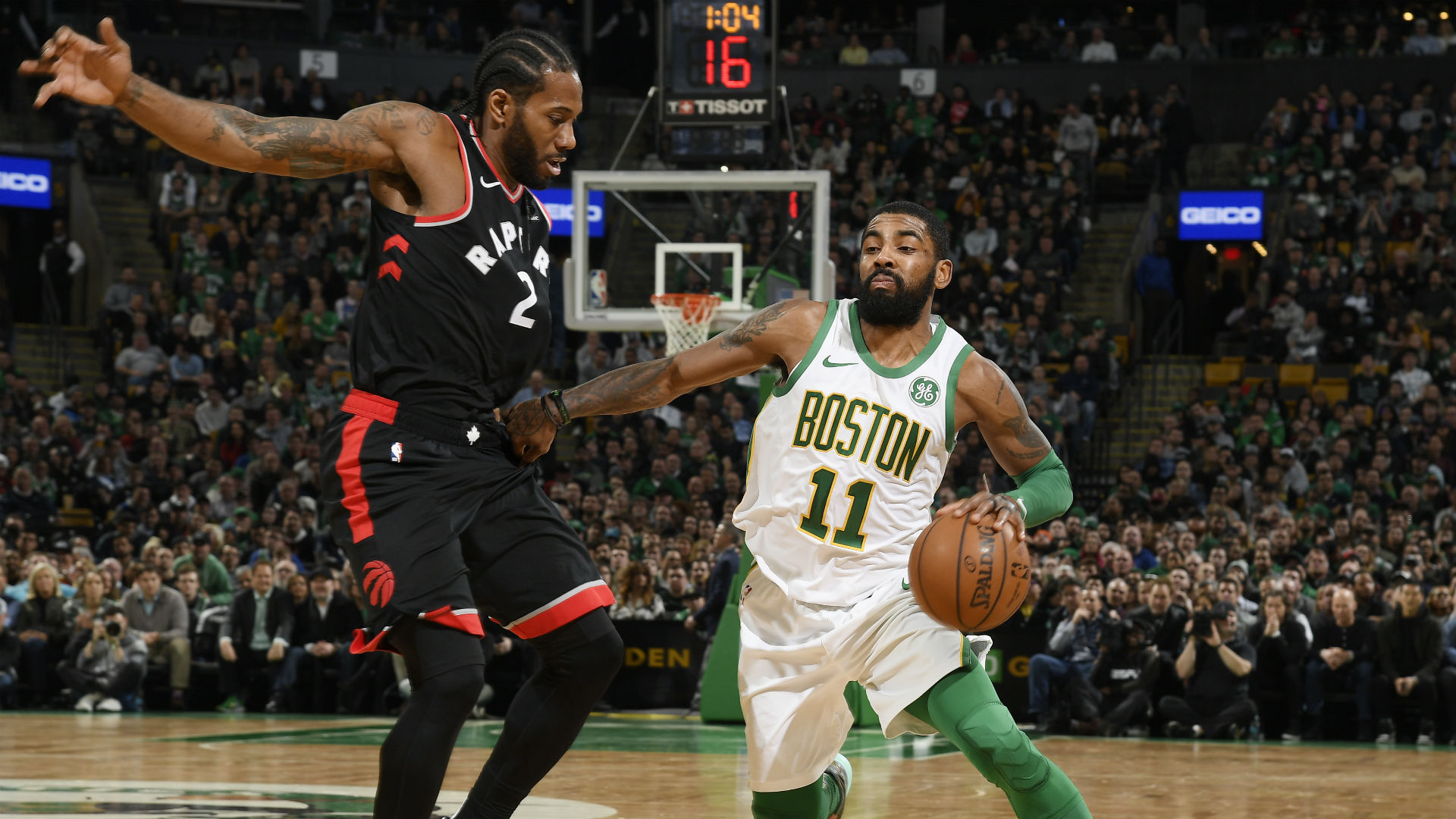 Should Kawhi Leonard spend more time guarding Kyrie Irving?