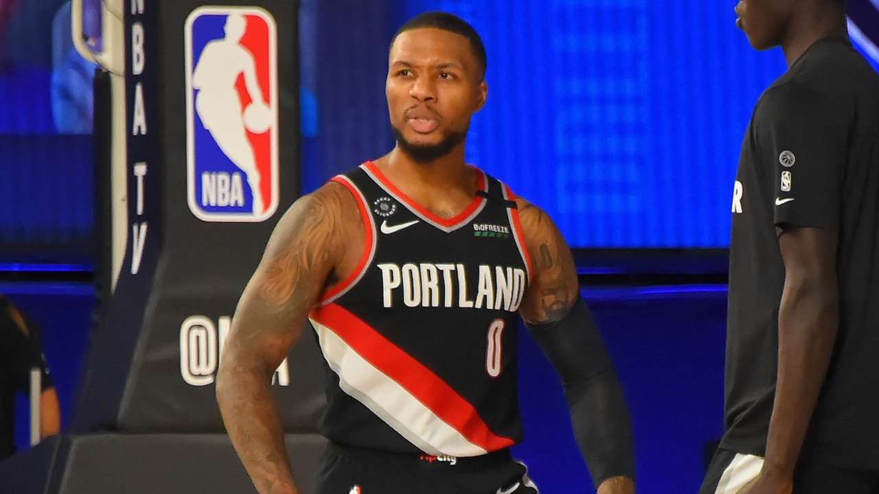 Damian Lillard exploded for 61 points against the Dallas Mavericks on Aug. 11, 2020 in the bubble