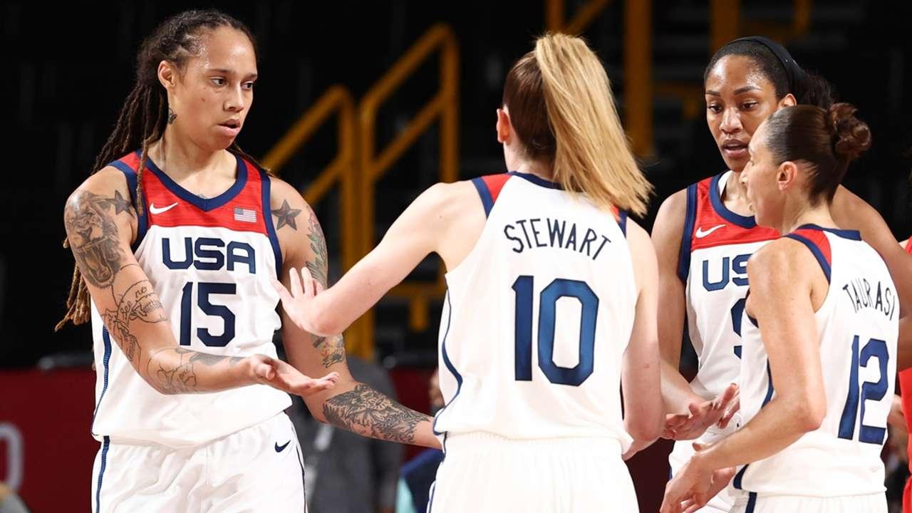 USA Women's Basketball Team at semifinals of Tokyo Olympics