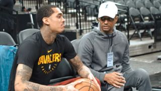 Jordan Clarkson and his father, Mike