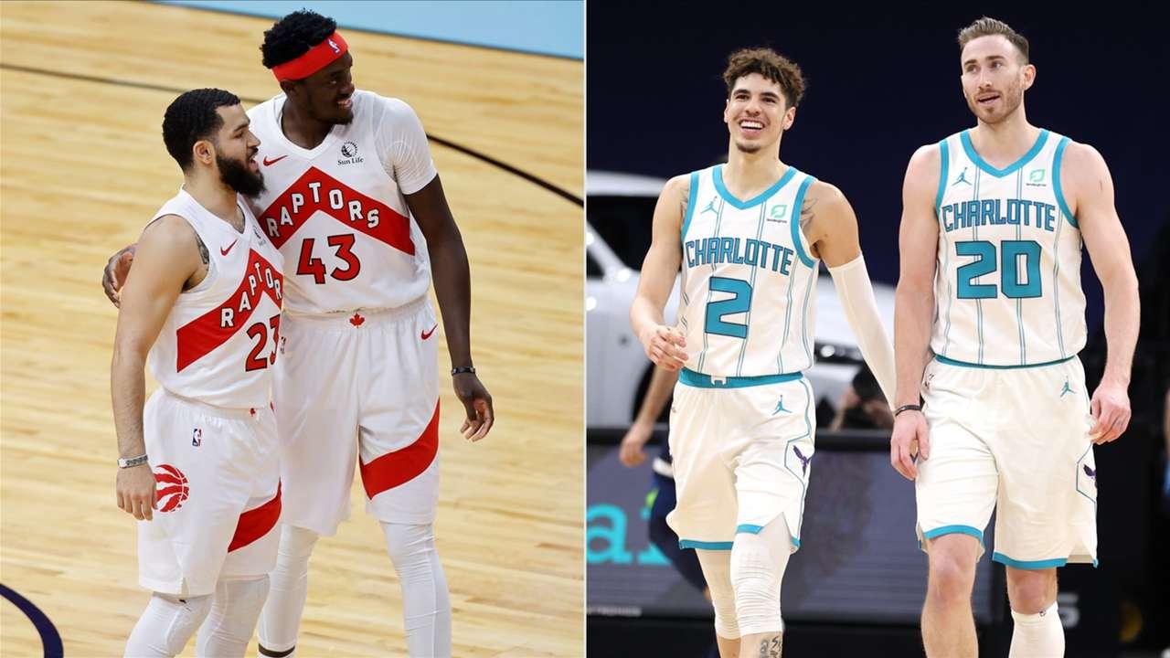 The Toronto Raptors and Charlotte Hornets