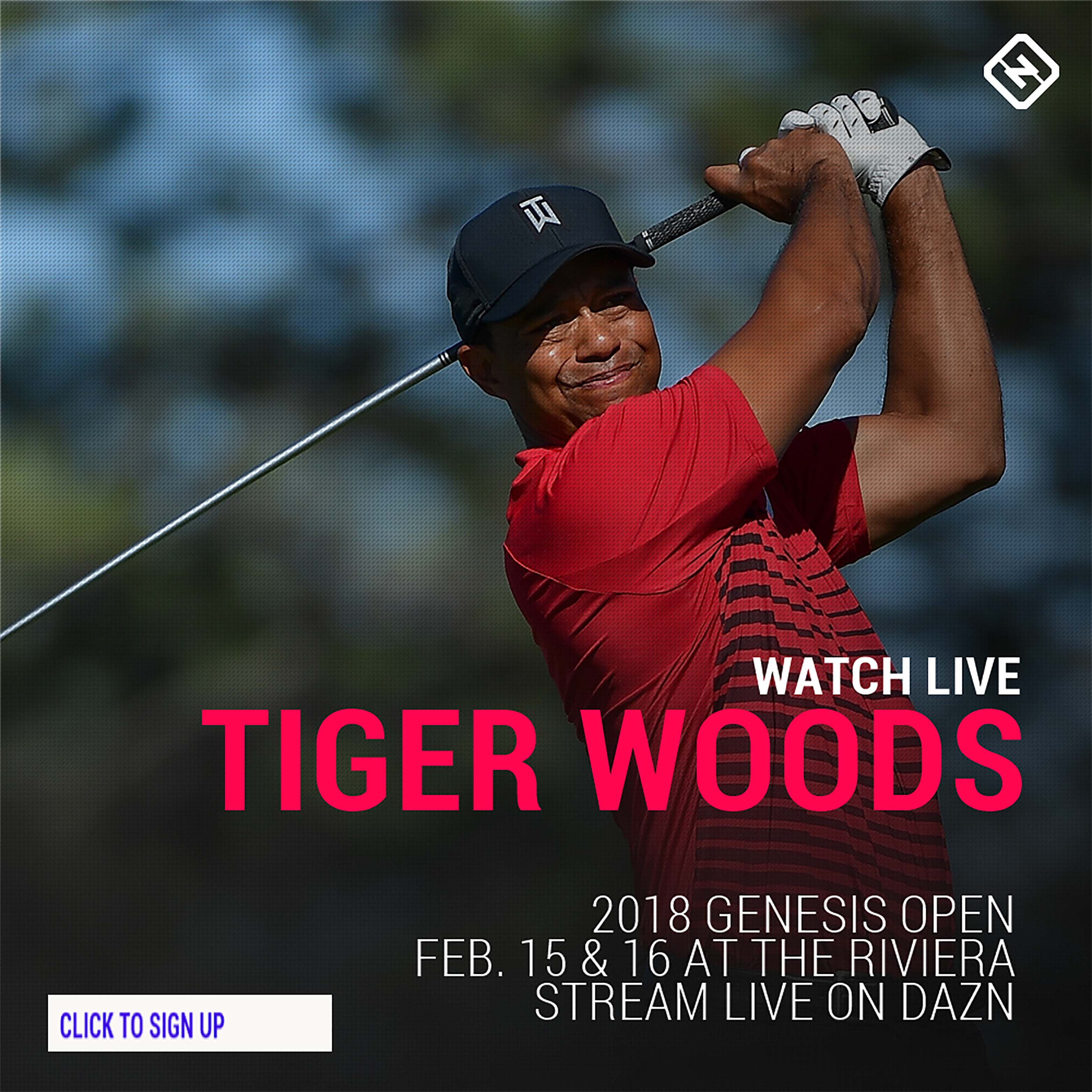 Tiger Woods promo graphic