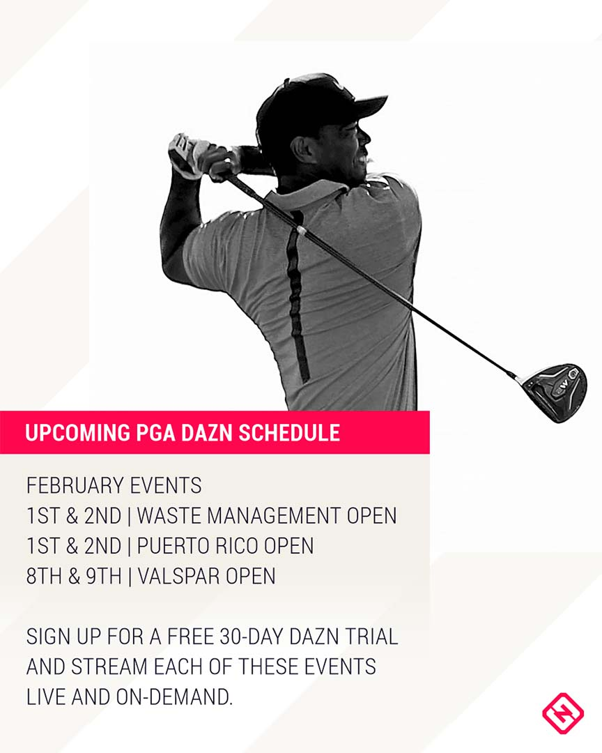 PGA DAZN schedule graphic