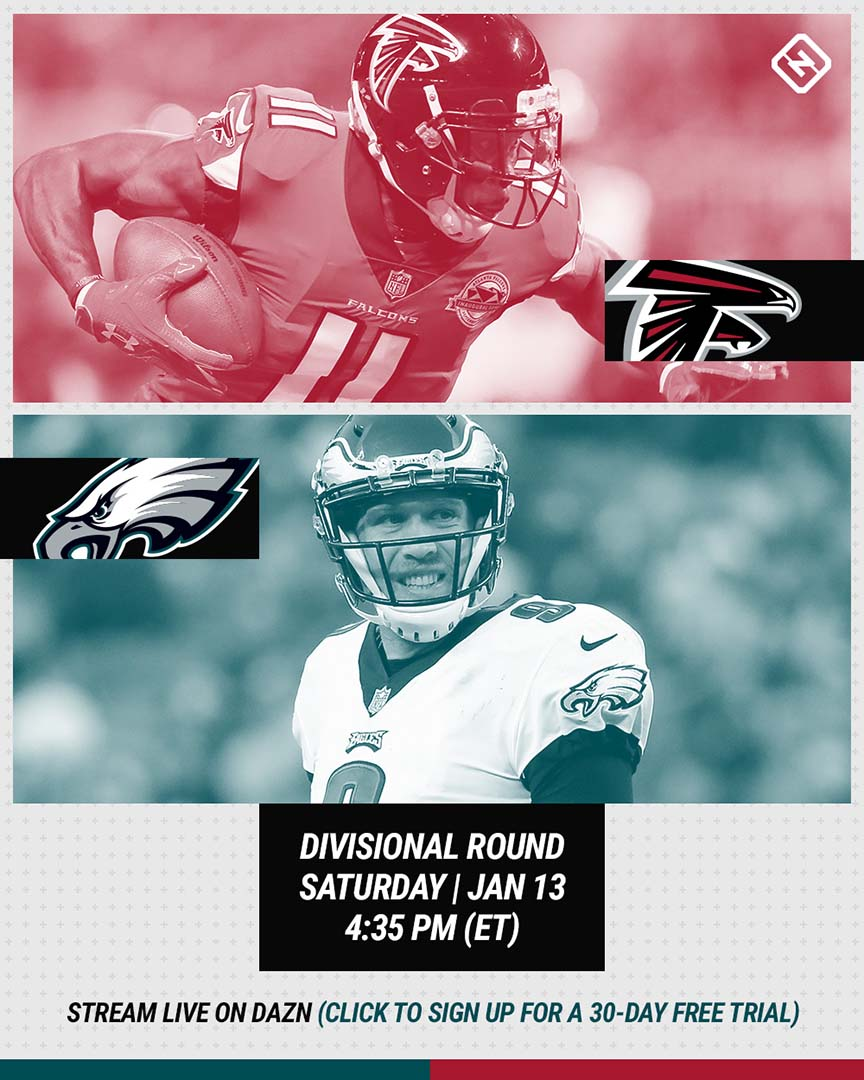 Falcons-Eagles DAZN graphic