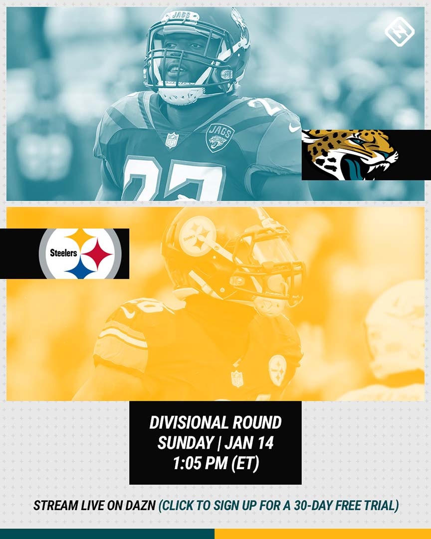 Jaguars-Steelers DAZN graphic