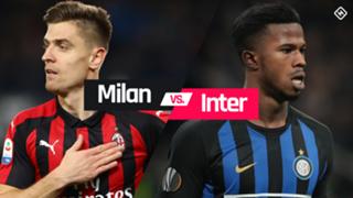 Milan vs. Inter graphic