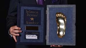 the Golden Foot Award trophy