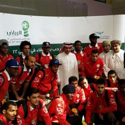 منتخب عمان يصل إلى الرياض