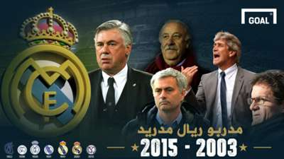 GFX Real Madrid coach between 2003 - 2015