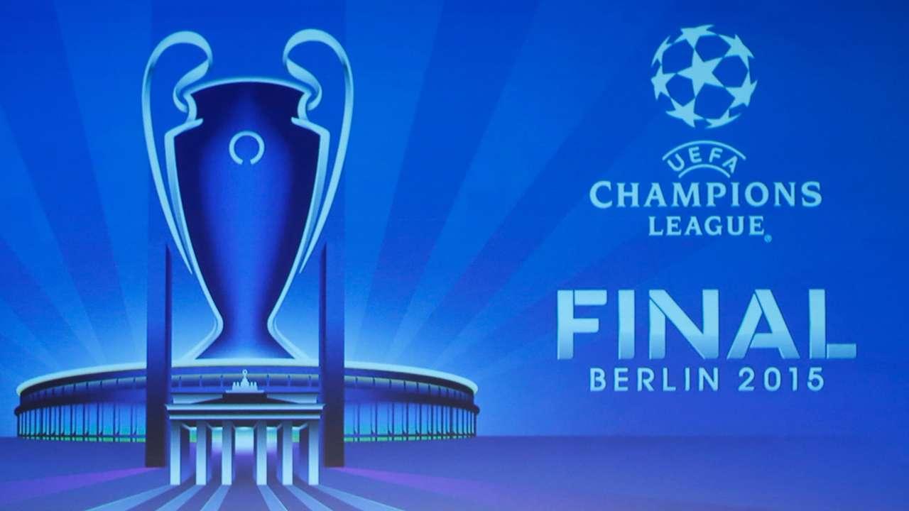 UEFA Champions League and Trophy Berlin Final logo