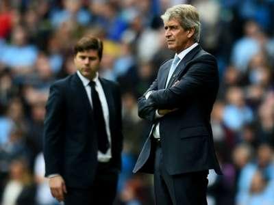 Manuel Pellegrini Mauricio Pochettino Manchester City Tottenham English Premier League 2014