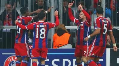 Bayern celebrating FC Bayern Munchen AS Roma Champions League 05112014
