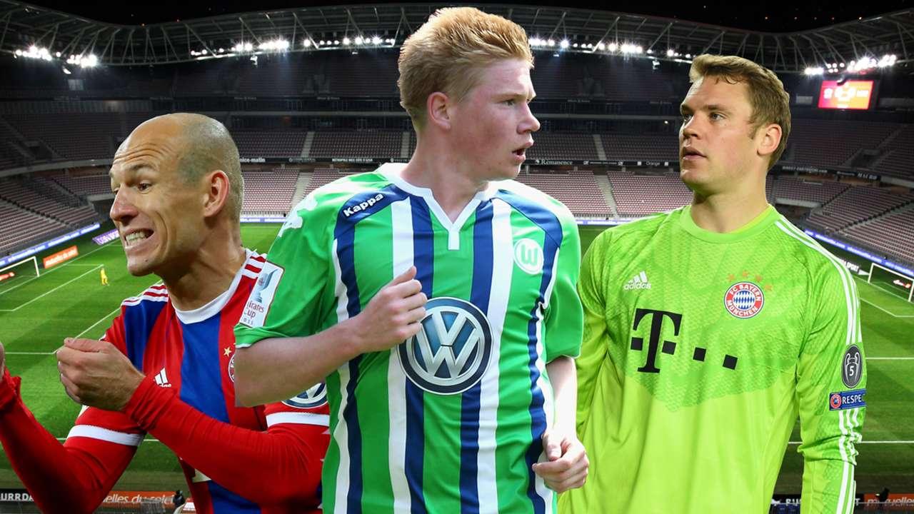 GFX Kevin De Bruyne Arjen Robben Manuel Neuer 07262015