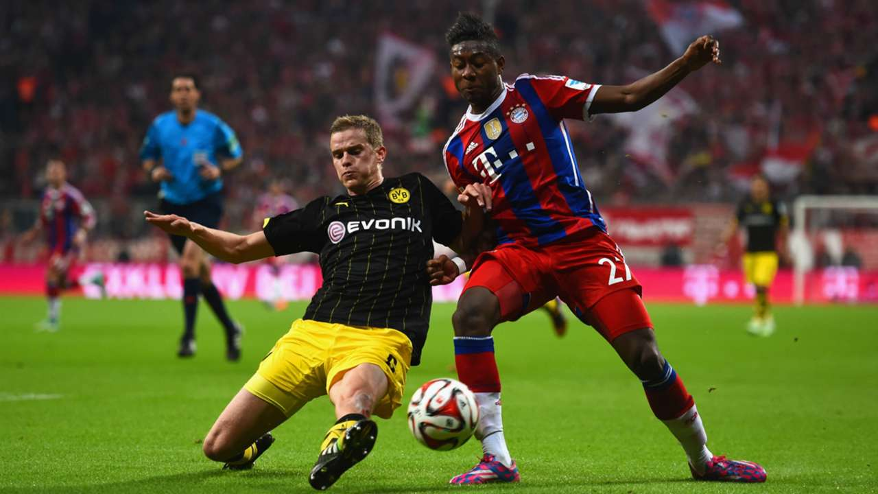 SVEN BENDER BORUSSIA DORTMUND DAVID ALABA BAYERN MUNICH GERMAN BUNDESLIGA 01112014