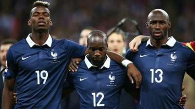 Paul Pogba Lassana Diarra Frankreich France 11172015