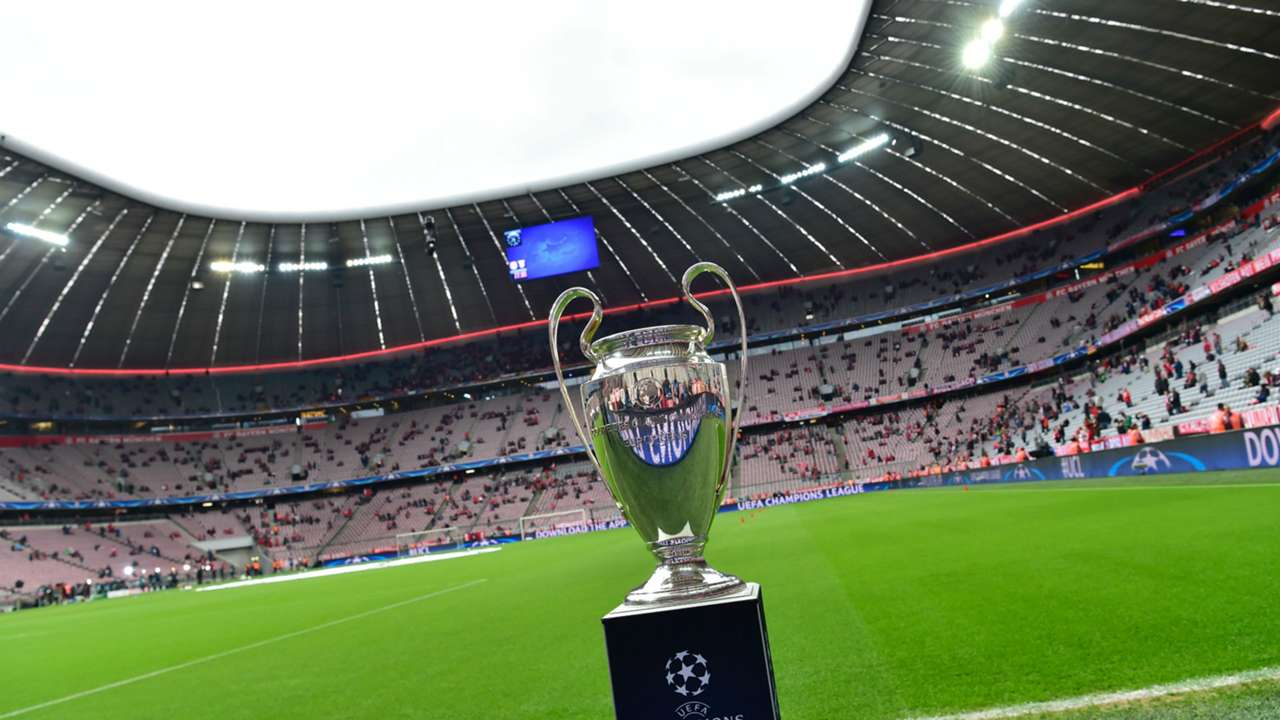 TROPHY BAYERN MUNICH ATLETICO MADRID CHAMPIONS LEAGUE 03052016