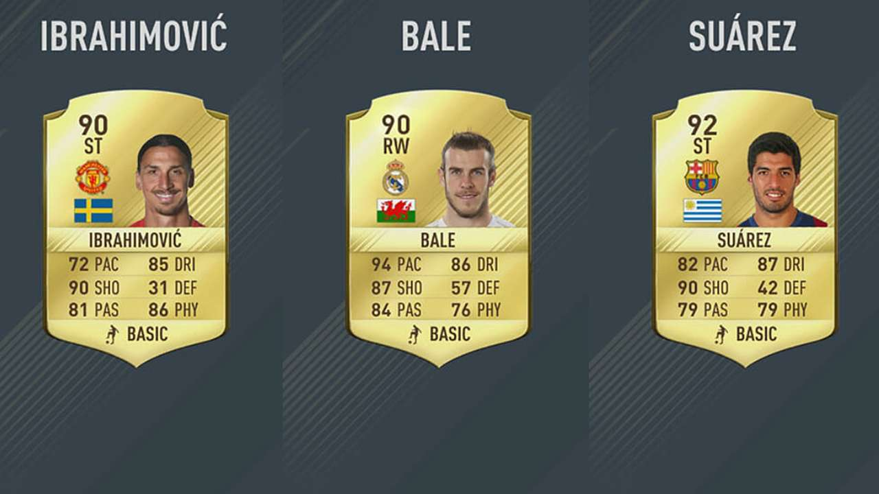 FIFA 17 Cards Top Player Rating