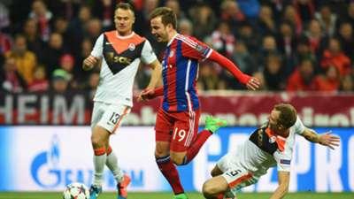 Mario Gotze Oleksandr Kucher FC Bayern Munchen Shakhtar Donetsk Champions League 11032015