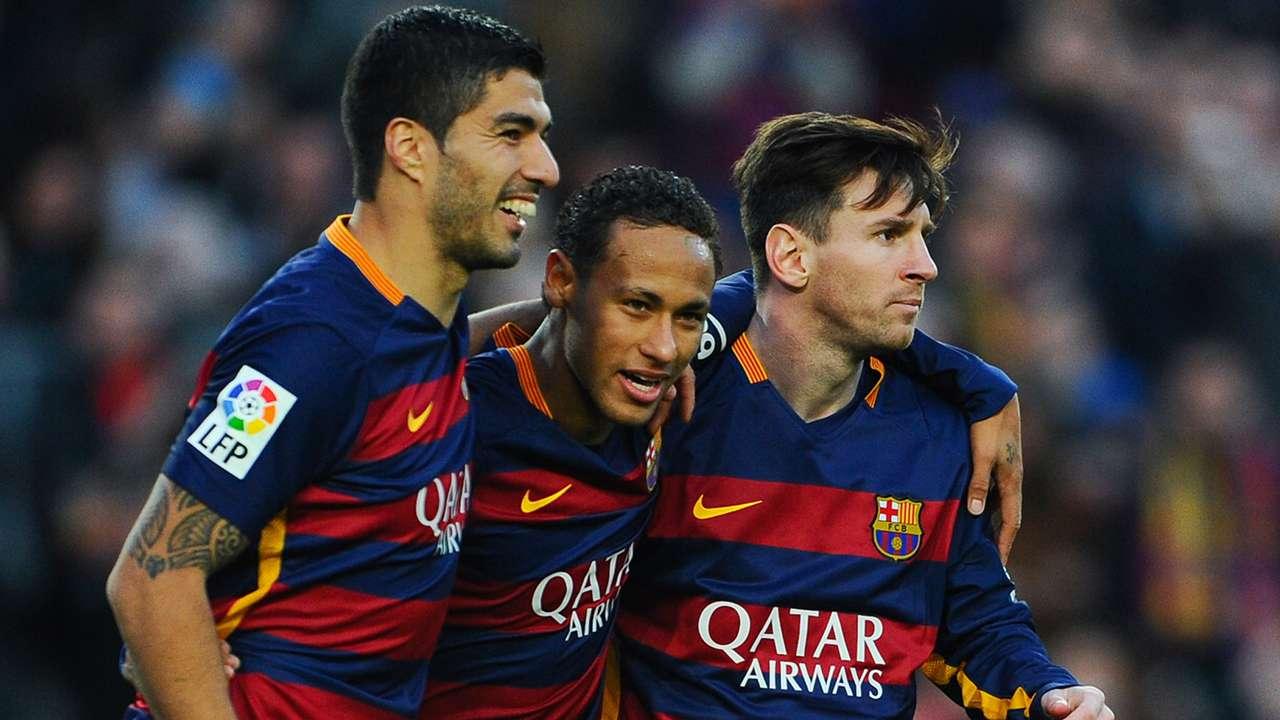 Luis Suarez Neymar Lionel Messi FC Barcelona 11282015