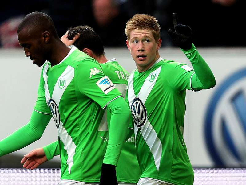 newest b653c 52cad Wolfsburg star Kevin de Bruyne equals Bundesliga assist ...