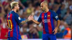 Lionel Messi Javier Mascherano FC Barcelona 17082016