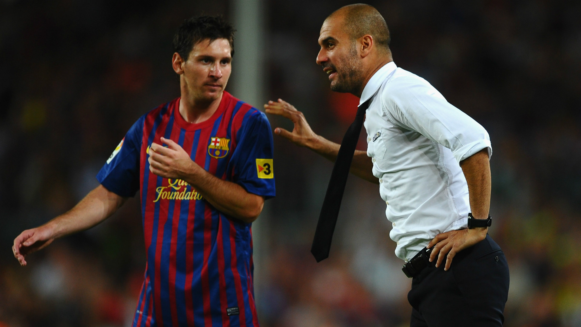 Lionel Messi Pep Guardiola FC Barcelona