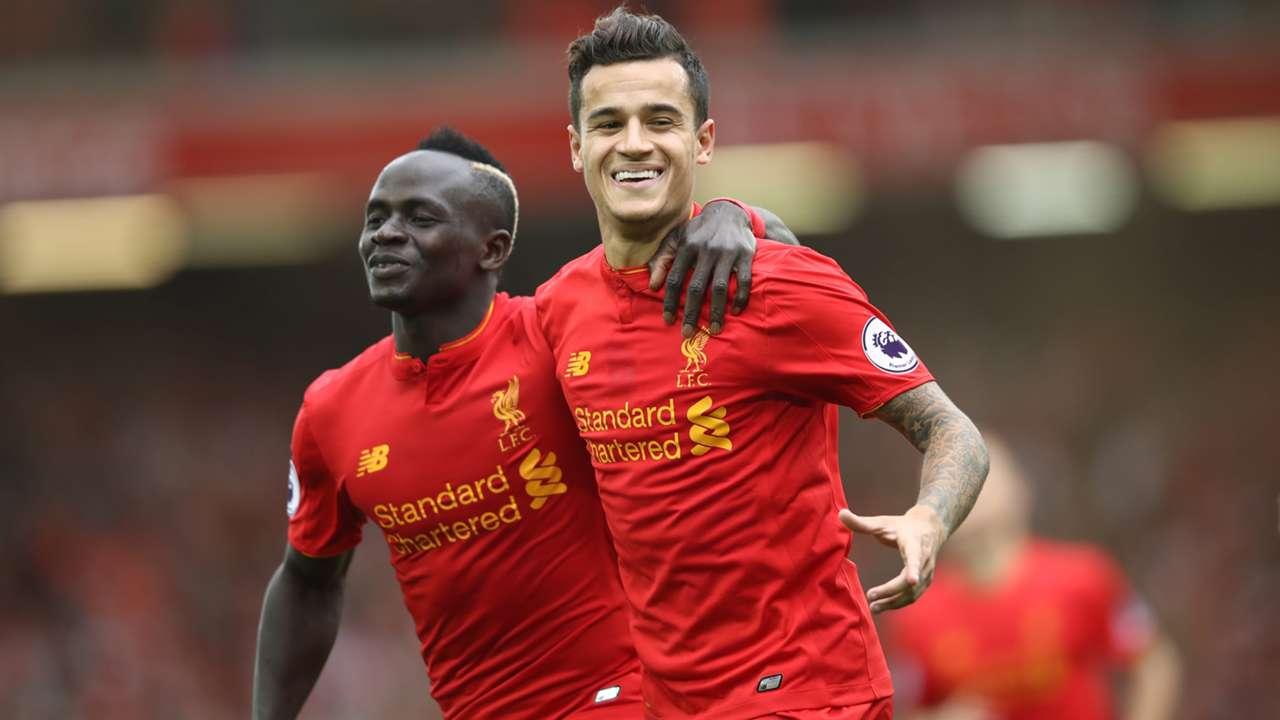 Sadio Mane Coutinho Liverpool Premier League 24092016